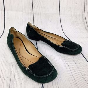 Kate Space Green Suede Loafers I 9
